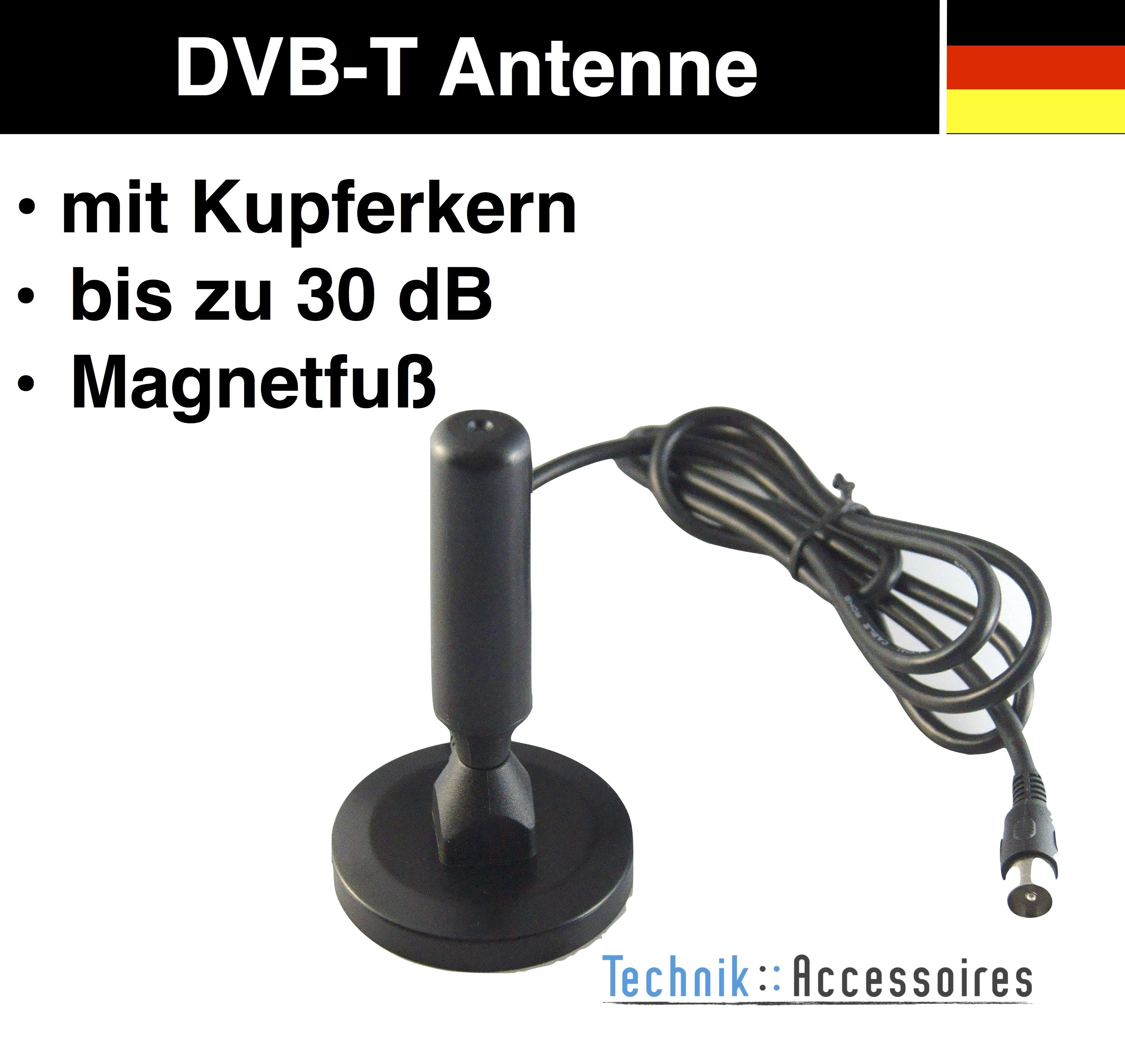 dvbt dvbt2 antenne stabantenne mit kupferkern f r lcd fernseher receiver tv ebay. Black Bedroom Furniture Sets. Home Design Ideas